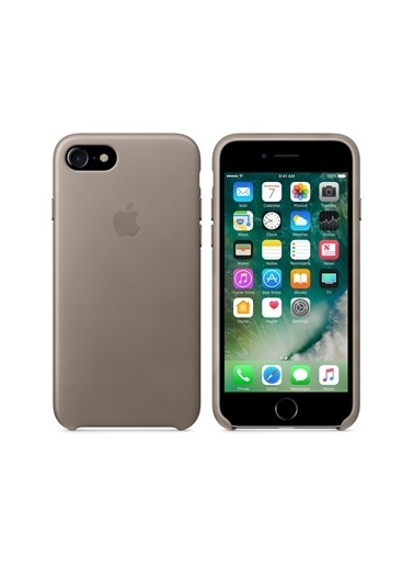 Apple Apple Iphone 7 8 Taupe Deri Kılıf Renkli